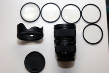 Sigma 24-35mm F/2 ART Lens for CANON DSLR with MACRO Close up filters