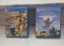 لعبة  Horizon zero down    و fifa 17