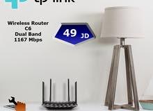 راوتر Tp-Link C6 مخصص للسرعات العالية وانترنت الفايبر