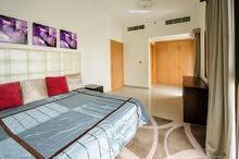 دبي البرشاء جنوب ارجان غرفة وصالة مفروشة سوبر لوكس - ايجار شهر ي شامل