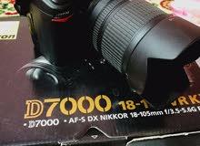 للبيع نيكون 7000 مع زوم 18-105vr نضافه 100%