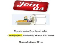 female radiographer from (Kuwait / India)