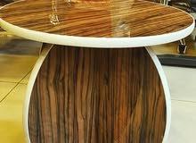طاولة خشب هاي جلوس دائري(pvc)