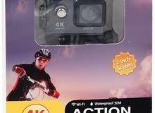 { كاميرا اكشن H9 الترا اتش دي 4K بوضوح 12 ميجابيكسل مقاومة للماء ومزودة بالواي ف