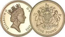 قطعة نقدية one pound 1993