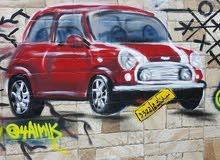 رسم جرافيتي للمحلات والمطاعم  graffiti art