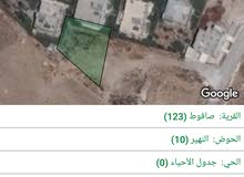 ارض للبيع في منطقة صافوط 713م قطعه رقم 145حوض9 النهير