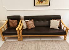 7 seater sofa set wooden Malaysian made