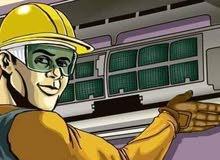 إصلاح وتركيب المكيفات وإصلاح الثلاجات ضمان على الاعمال تواصل واتساب أو اتصل