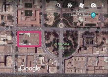 قطعة أرض بشارع الجامعة أمام القصر الجمهوري