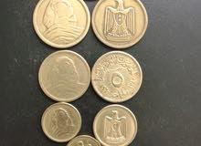 8 عملات مصرية قديمة ابو الهول و النسر