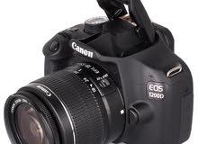 كاميرا Canon 1200D استعمال قليل جدا جدا .