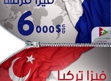 فيزا تركيا 26 دولار مصر 10 دولار