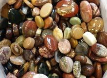 مجموعة احجار عقيق يماني اصليه بمختلف الانواع والاشكال والاحجام