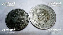 للبيع دولار أمريكي قديم واحد سنه 1851 والثاني 1898 السعر 200 دينار نهائي