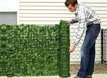 شبك جداري عشبي بلاستيكي للأسوار والجدران والبلكونات طول 3 متر بعرض متر بسعر 15
