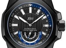 ساعة JBW رجالية مرصعة ب 4 فصوص الماس طبيعي