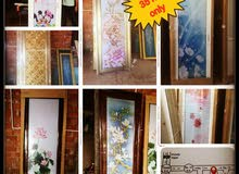 aluminum door with glass 35 rial only