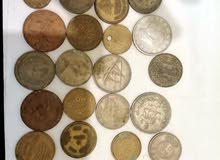 عمل نقدية قديمة عربية وأجنبية معدن