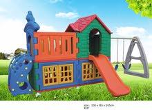Children 'S Outdoor Plastic Storage Racks Slide Swing Storage