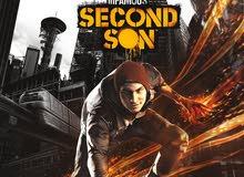مطلووب لعبة infamous second son بسعر مايفوتش ال40 اللعبة قاعدة مجانية و قديمة