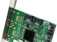 مطلوب 4 Port SATA III PCI-e 2.0 x1 Controller Card
