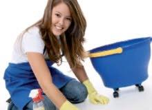 متوفر عاملات لتنظيف المنازل والشقق