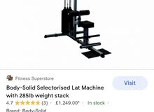 Bodysolid Lat Pulldown and low row