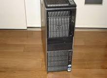 دبل برسيسور كاش 24 ميجا 12 كور HP WORKSTATION Z600 رام 24 جيجا فيجا كوادرو
