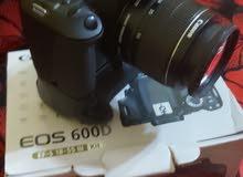 كاميره كانون 600d جديده مكشمه بسعر حرق