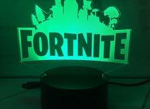 ستاند فورت نايت مضيئ - fortnite 3D RGP lamp
