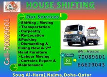 shifting packing carpenter transport services.(77160307)
