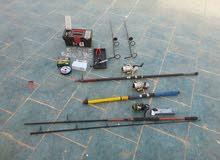 ماكينات صيد سمك وكاستنج جديد مستعمل لمرة واحدة وبعض الادوات والمستلزمات