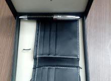 محفظة جلد طبيعي للبيع