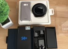 جهاز Galaxy S8+ Plus اسود خطين ( فل بكج ) بحالة الجديد