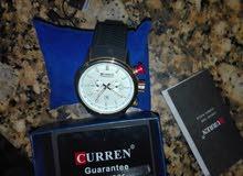 ساعة (curren) غير مستعملة للبيع مع ضمان سنة