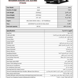 2016 Used Outlander with Automatic transmission is available for sale