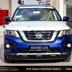 Blue Nissan Pathfinder 2018 for sale