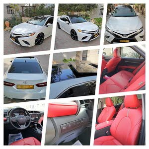 White Toyota Camry 2018 for sale