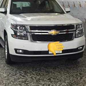 White Chevrolet Tahoe 2015 for sale