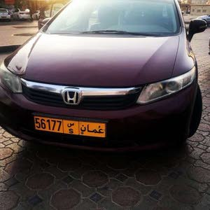 Honda Civic 2012 For sale - Maroon color