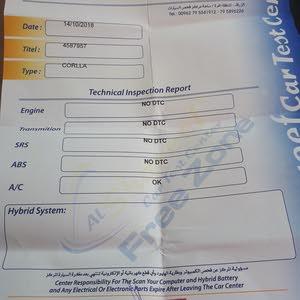 تويوتا كورولا 2013 جمرك جديد بحالة الوكالة للبيع او للبدل
