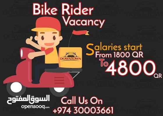 Bike Rider Vacancy Job