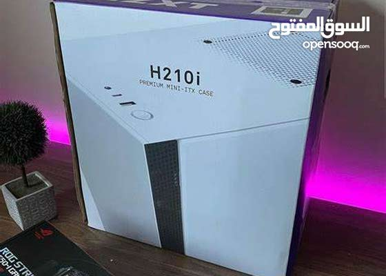 صندوق جديد مع كرتونه وبقراطيسه رقم التواصل بالصوره فقط مع اضاءه كامله NZXT H210i Lighting Control