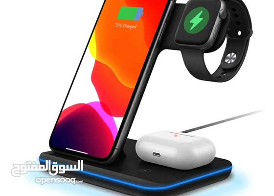 3 IN 1 Wireless Charger For Apple Watch Earphone Mobile Phones