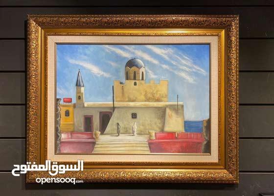 لوحات فنية اصلية  لمعالم ليبية