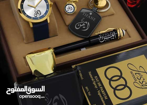 ساعة رجالي  تصميم بالأسماء وصور حسب طلبك ورغبتك