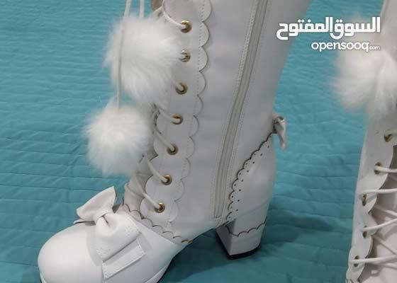 جزمه حذاء شتوي مع فروه جديد