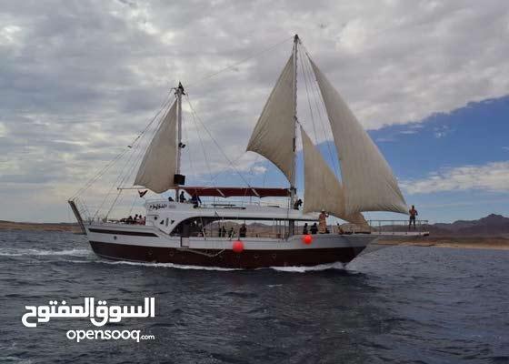 قارب يخت او مركب شراعى سياحى لرحلات الغوص والسنوركلينج والرحلات الليلية والخاصة