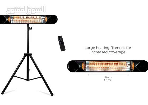 Portable Heater - 1500W -Infrared patio heater/Wall Mounted, ceiling, freestanding